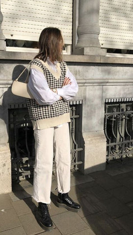 Sweater Vest & Shoulder Bag