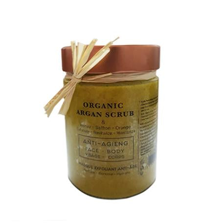 Organic Argan scrub - Anti-Age Exfoliating Mask - 200g