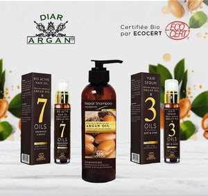Pack Of Argan Oil for Hair 100% Organic  (Bio) Pure Moroccan .