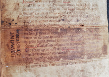 Load image into Gallery viewer, C13th fragment of 'Catholicon' - John of Genoa (Balbus)