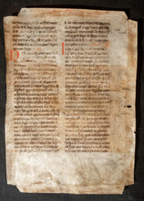 Load image into Gallery viewer, Large leaf on vellum from a Latin Bible, Germany, c.1150