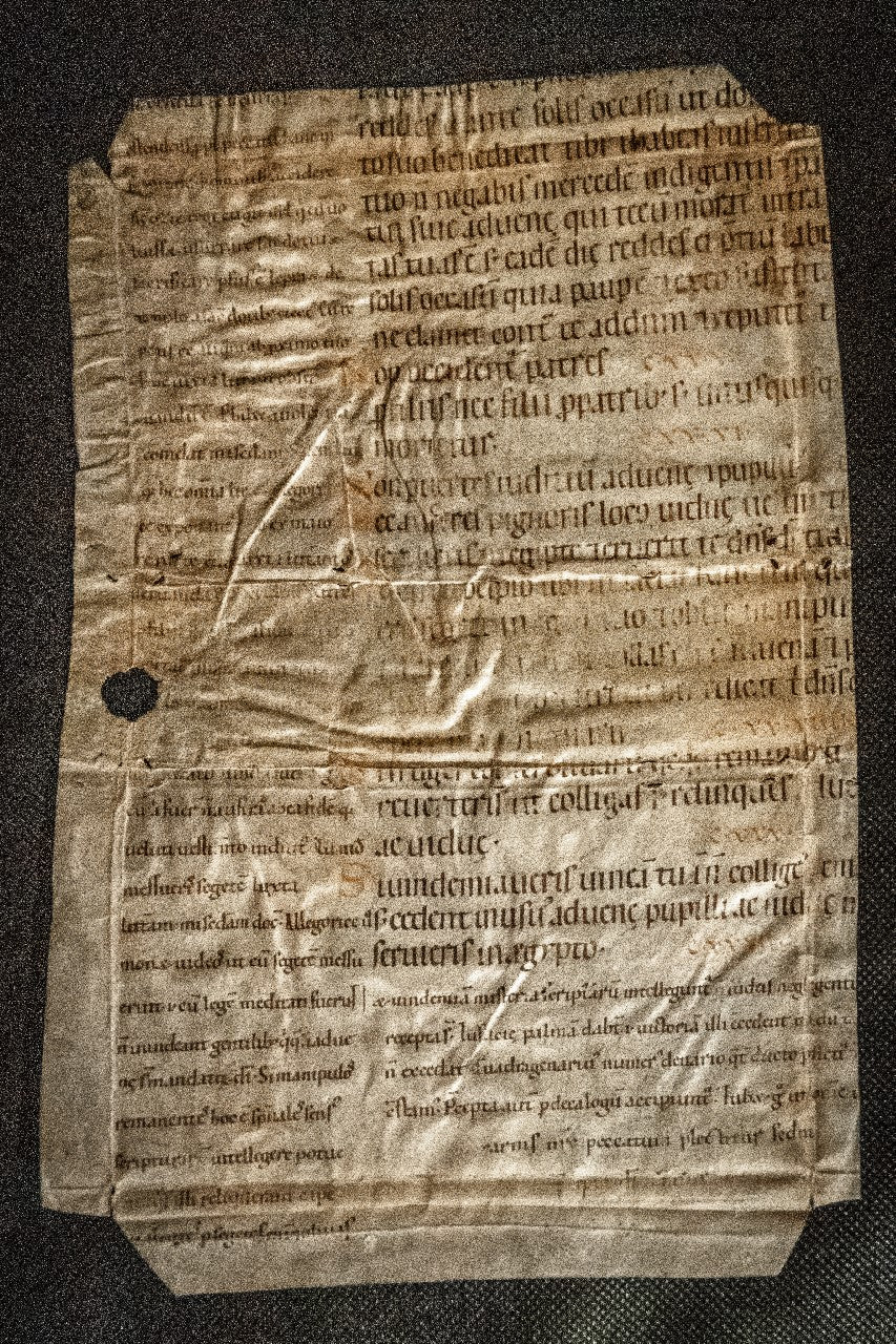 German Glossed Bible Leaf C12th