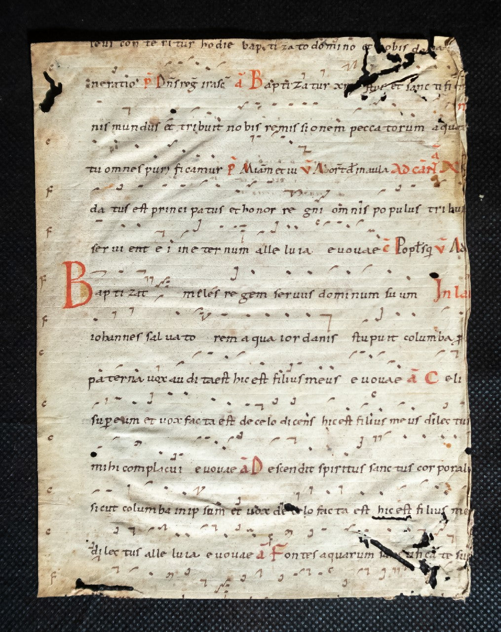 Liturgical leaf from C11th