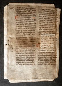 Large leaf on vellum from a Latin Bible, Germany, c.1150