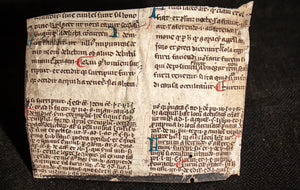 Digest (or Pandects) opening of book XLVII, with gloss, presumably that of Accursius, C13th