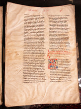 Load image into Gallery viewer, AUGUSTINE, St. Tractatus in Iohannem, Homilies. 14 complete folio leaves