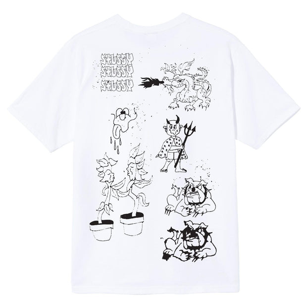 stussy - bad dream tee - back view