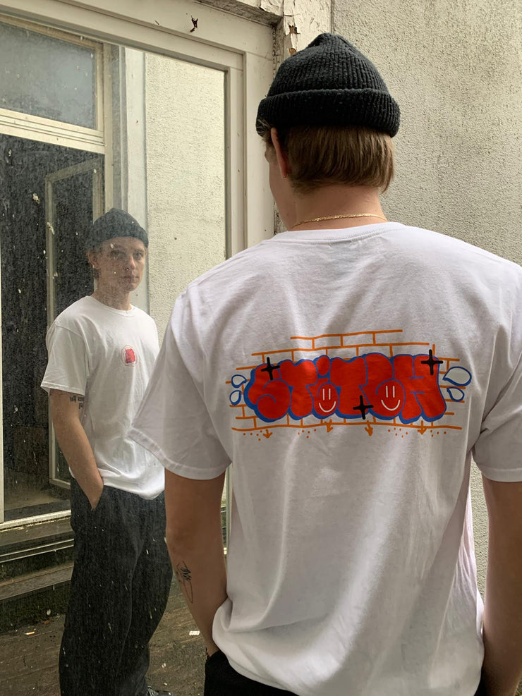 Stitch graff tee white_back view
