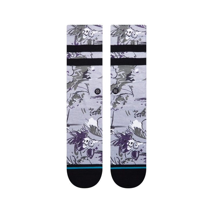 stance - florence floral- socks -front view