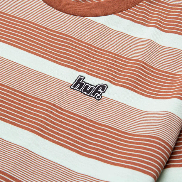 huf - berkley stripe knit tee - details chest