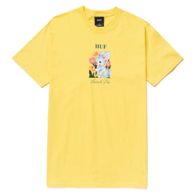 huf - born to die tee pale yellow - front view