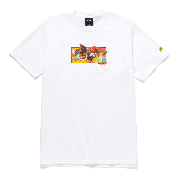 huf x streetfighter - dhalsim tee black- front view