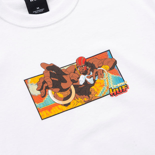 huf x streetfighter - dhalsim tee black- front print view