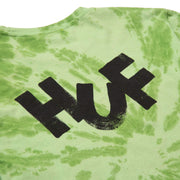 huf - haze brush tie dye tee green - back print details