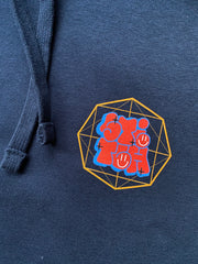 Stitch graff hoodie navy_front detailed view
