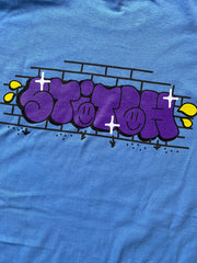 Stitch graff tee carolina blue_back detailed view
