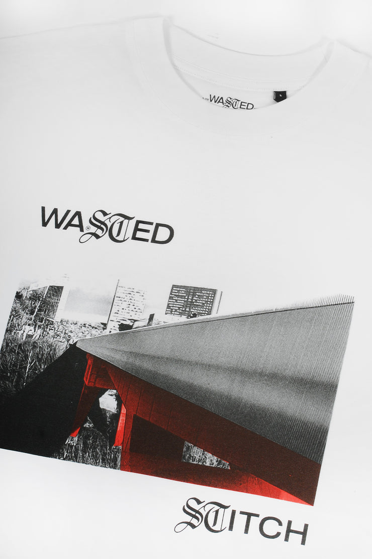 WASTED STITCH WHITE TEE