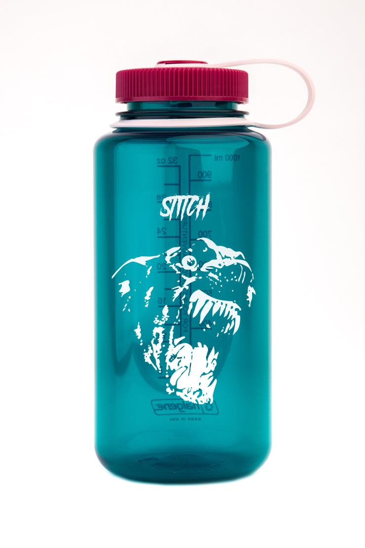 Stitch x nalgene bottle_dog green_front view
