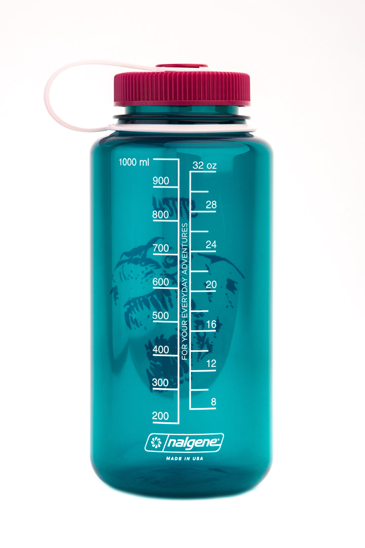 Stitch x nalgene bottle_dog green_back view