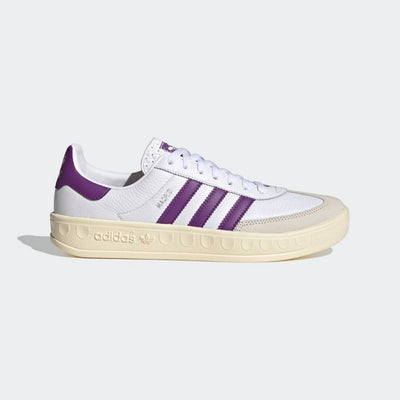 adidas - madrid vs barcelona shoes - white and purple representing iconic real madrid colours