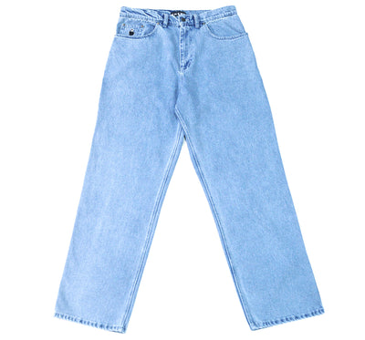 nnsns jeans - bigfoot  blue superbleached - front view