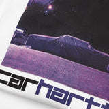 PURPLE CAR TEE WHITE