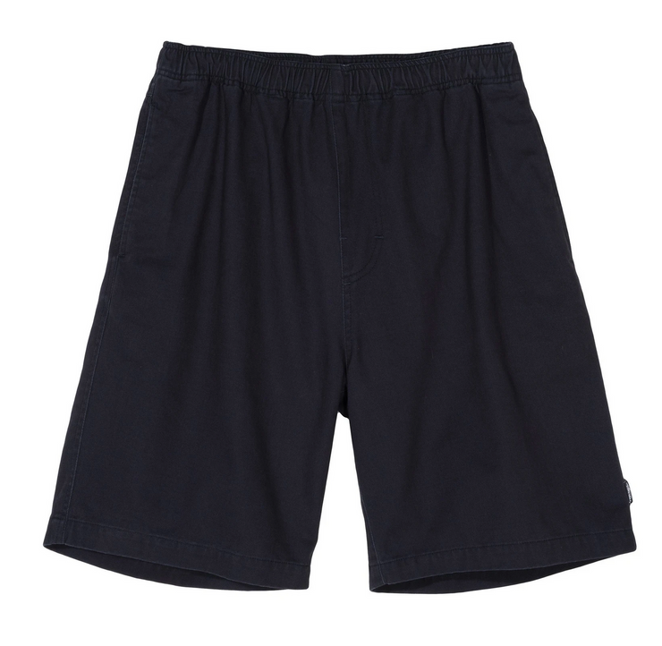 BRUSHED BEACH SHORT BLACK