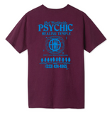 PSYCHIC TEMPLE TEE BURGUNDY