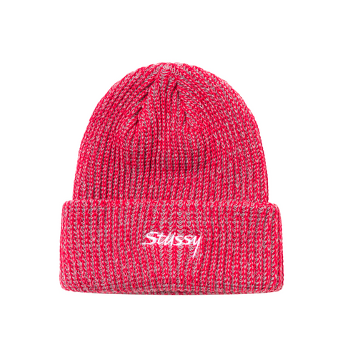 2 TONE KNIT BEANIE RED