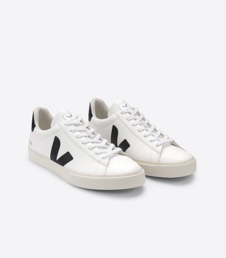 VEJA sneakers_CAMPO CHROMEFREE white/black men_front view