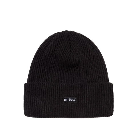 SMALL PATCH BEANIE BLACK