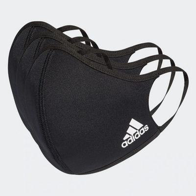 adidas- face cover mask- black - m/l