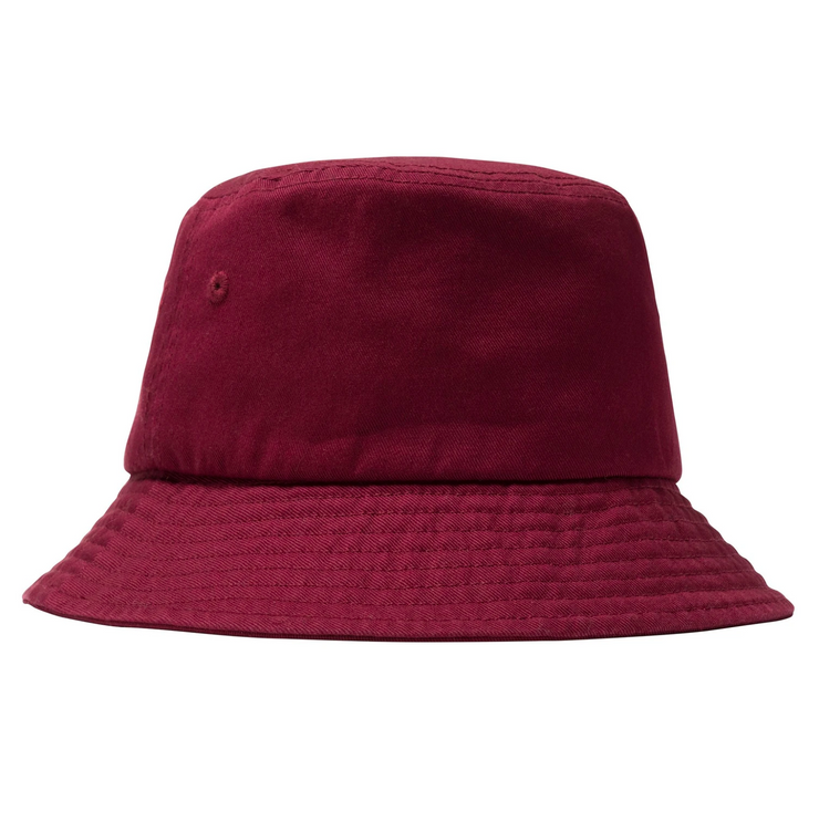 STOCK BUCKET HAT BURGUNDY