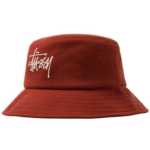 BIG LOGO TWILL BUCKET RUST