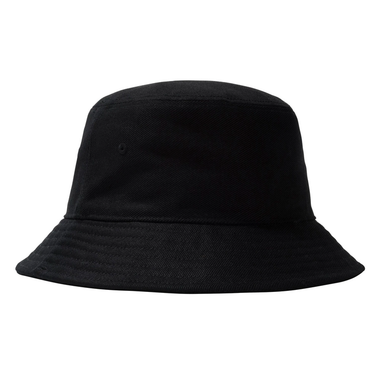 stussy_big logo bucket hat black_back view