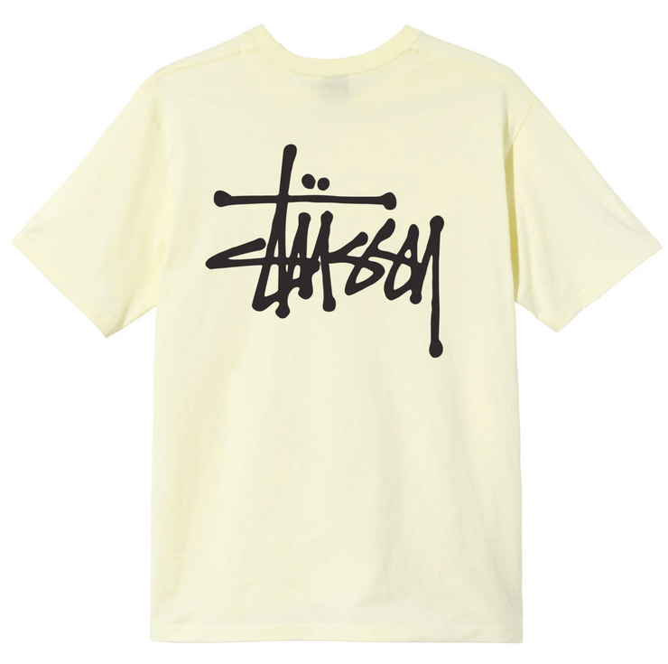 stussy_basic tee yellow_back view