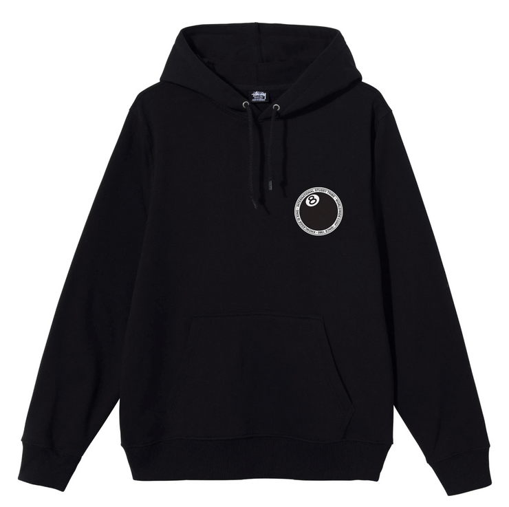 stussy_8ball dot hood black_front view