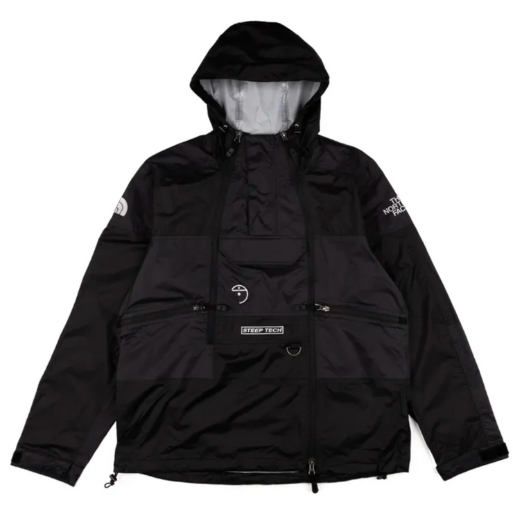the north face-steep tech light rain jacket- front view