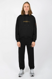 wasted paris - essential 21 hoodie black - front view2