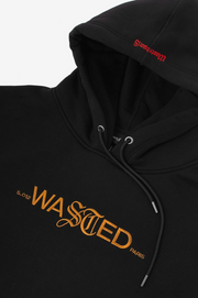wasted paris - essential 21 hoodie black - detailedview