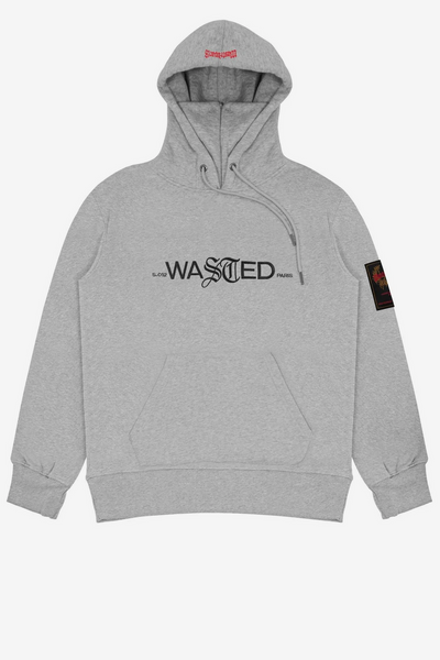 wasted paris - essential 21 hoodie grey - front view