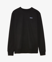 patagonia - p6 label uprisal black crewneck - front view