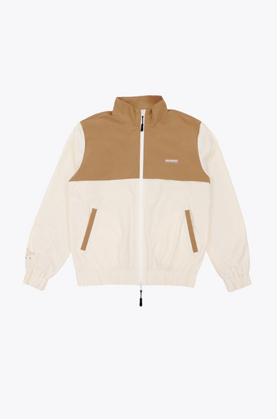 hologram - whole jacket beige - front view