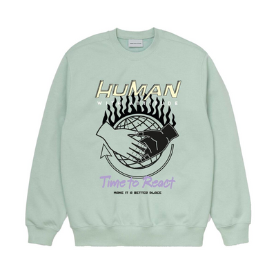 hwa - better place crew sweatshirt with front print