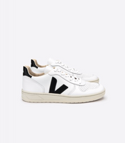 VEJA sneakers_V10 leather white/black women_side view