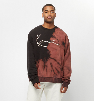 karl kani - signature bleached crew - front view