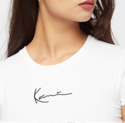 karl kani - kk small signature short tee white- details