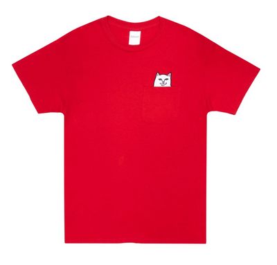 ripndip - lord nermal pocket tee red - front view