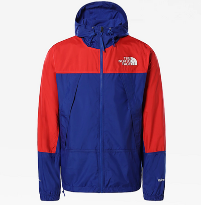 the north face - hydrenalin wind jacket blue and red - front view