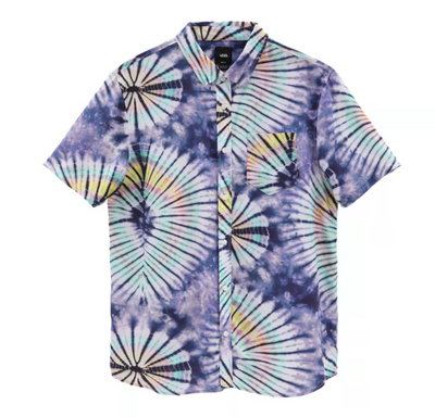 vans - new age tie dye shirt - front view